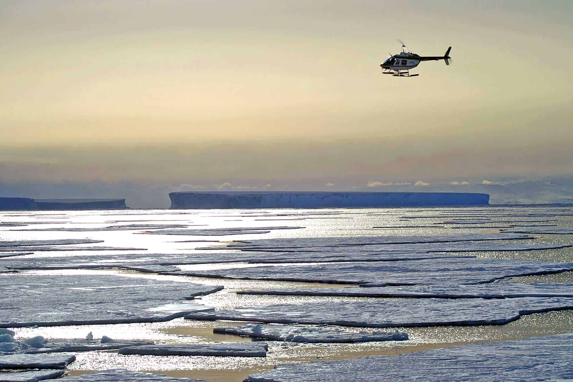 Ross Sea Explorer helicopter