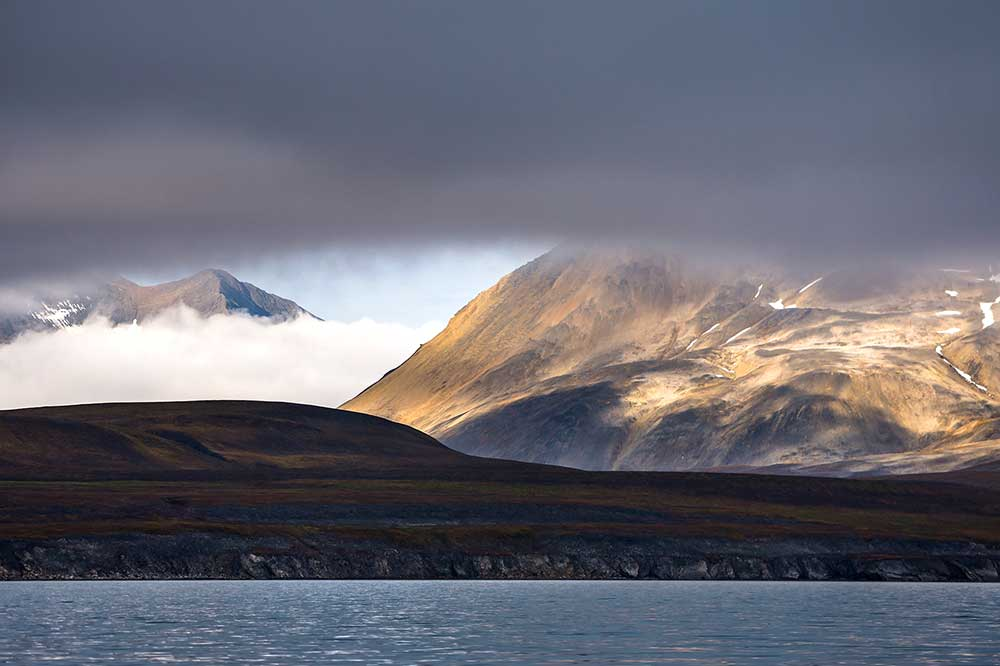Coastal scene travel Spitsbergen