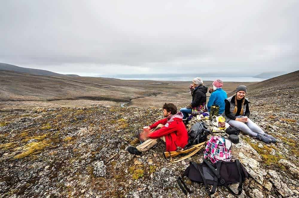 A break from hiking travel Svalbard and Spitsbergen