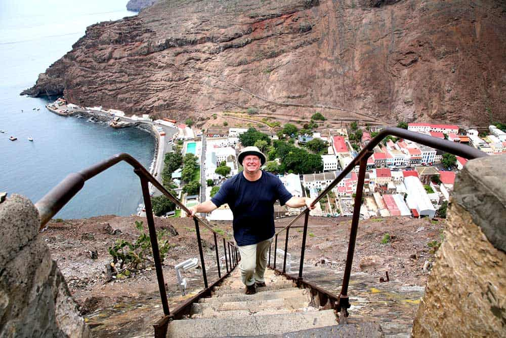 Climbing Jacobs Ladder travel St Helena