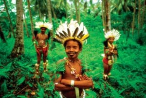 Papuan Children during National Mask Festival