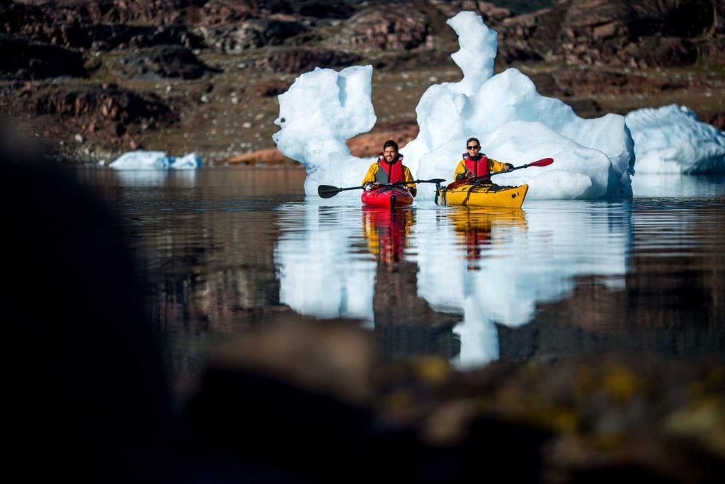 Kayaking South Greenland