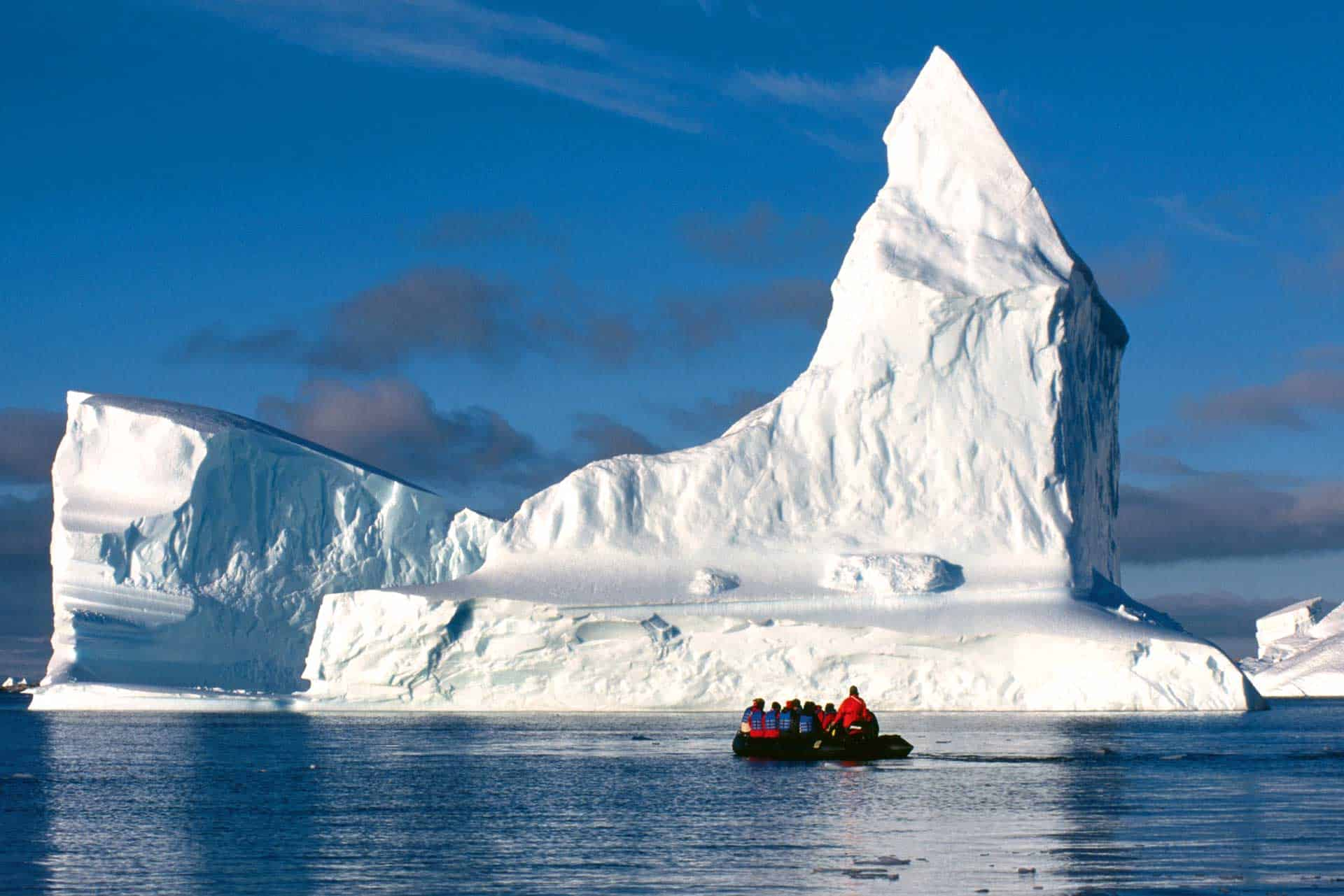 Zodiac cruising Weddell Sea