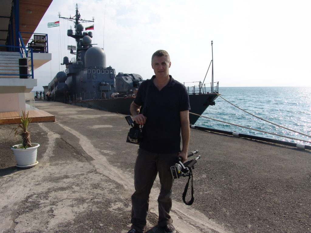 Nick Lazaredes reporting from Sukhumi, Abkhazia 2008.