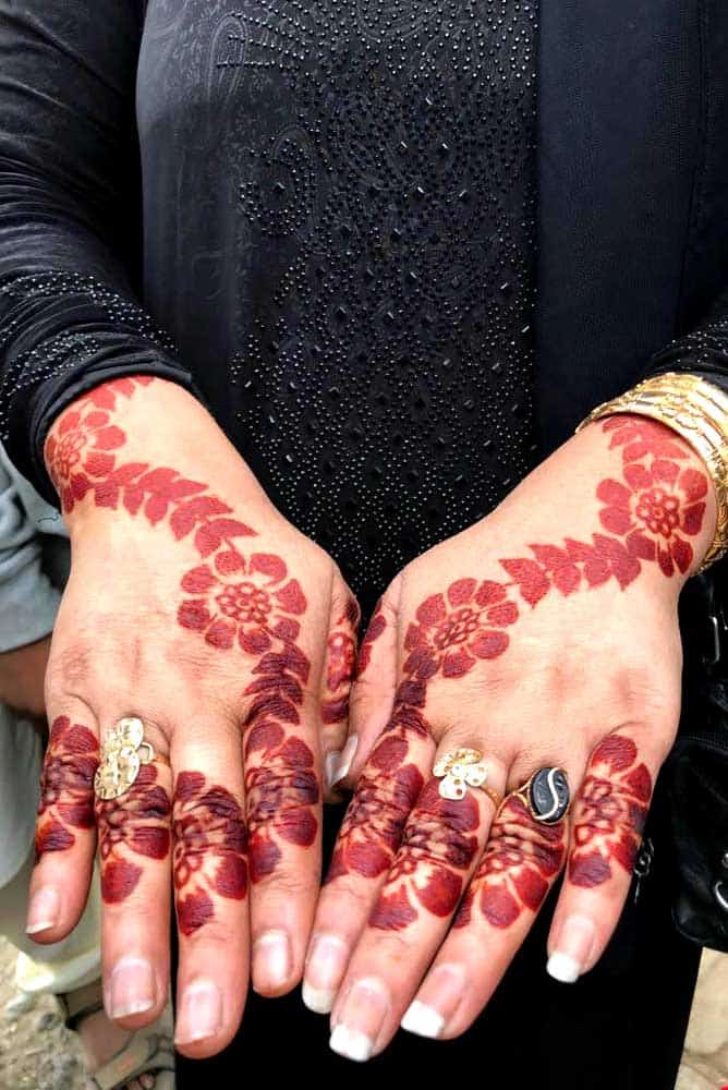 Henna tattoo, Southern Pakistan